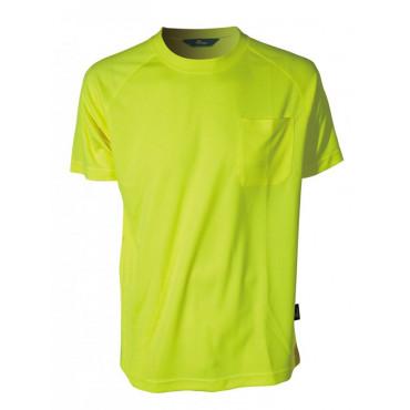 T-Shirt ostrzegawczy coolpass żółty Vizwell VWTS10-AY